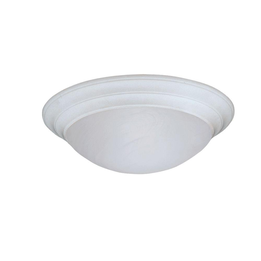 Clovis Collection 1-Light Solid White Ceiling Flushmount