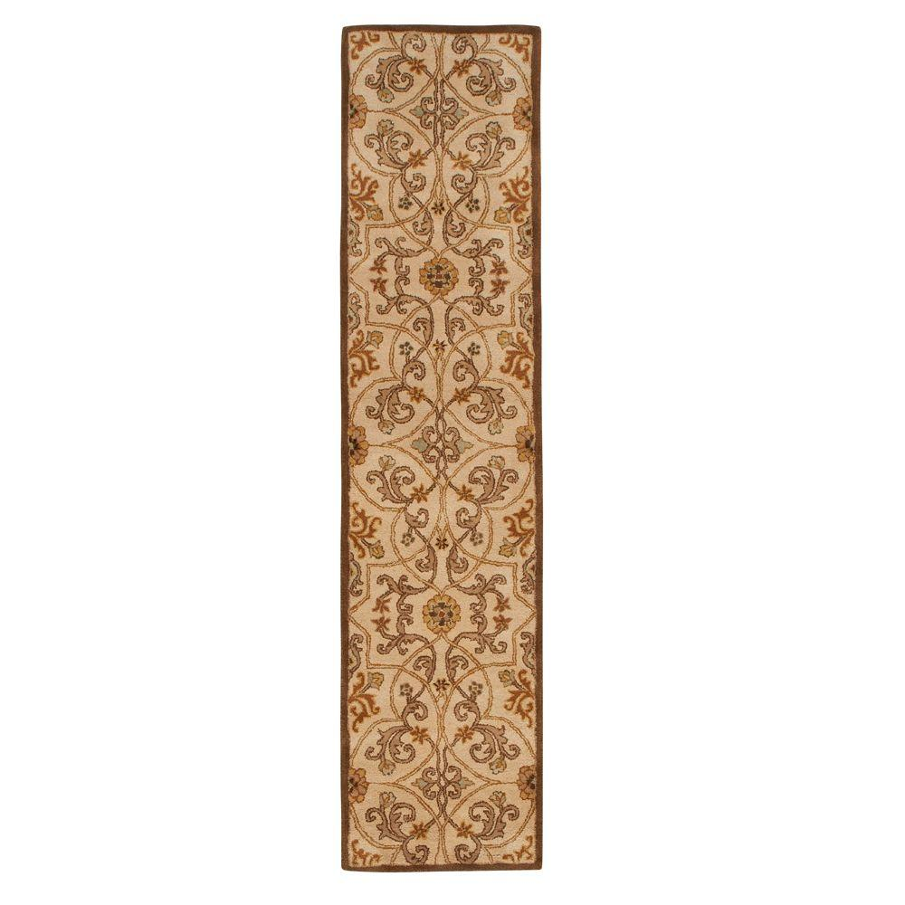 Rug Runner Gold: Home Decorators Collection Grimsby Light Gold 2 Ft. 3 In