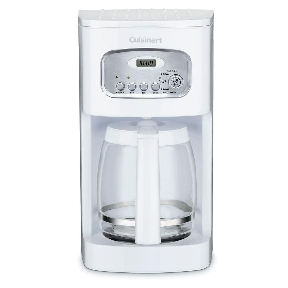 12-Cup Programmable Coffee Maker in White