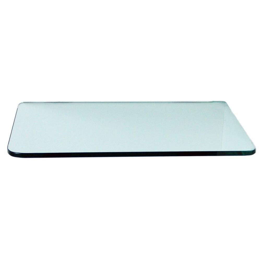 Floating Glass Shelves 3/8 in. Rectangle Glass Corner Shelf (Price Varies By Size)