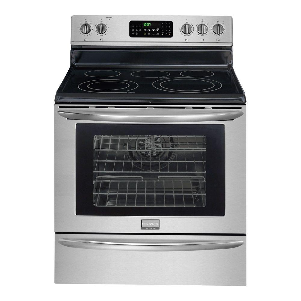 Frigidaire 30 in. 5.8 cu. ft. Electric Range with Self-Cleaning Convection Oven in Stainless Steel