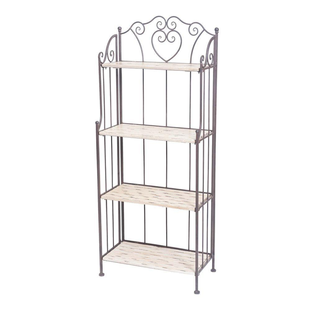 Sunjoy 23.5 in. W Bakers Rack in Gray-110302015 - The Home