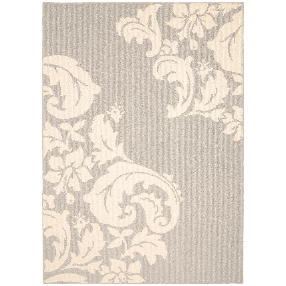 Cambridge Silver/Ivory 5 ft. x 7 ft. Area Rug