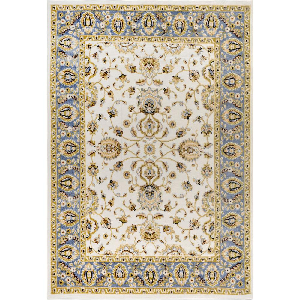 Optimum Ivory/Blue 5 ft. 2 in. x 7 ft. 2 in.
