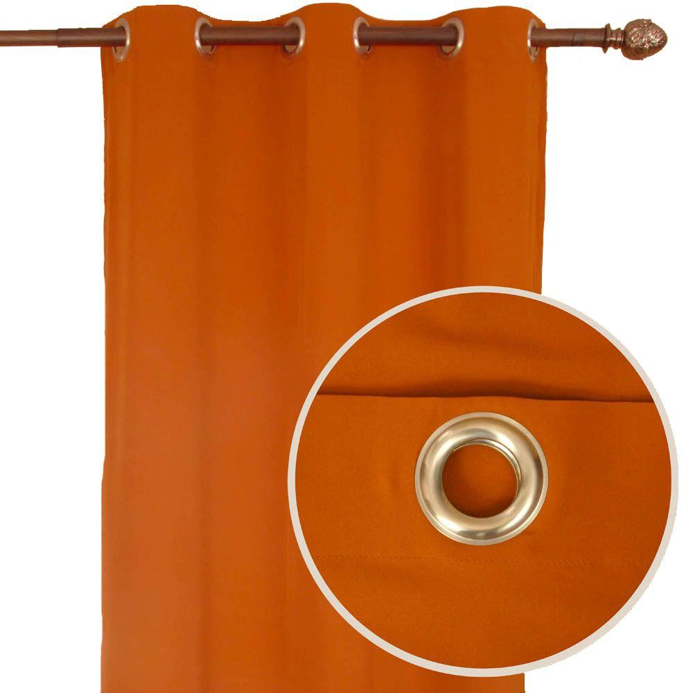 Home Decorators Collection Bela Terracotta Grommet Curtain-DISCONTINUED