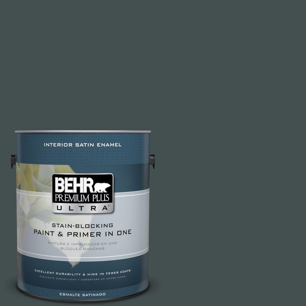 1 gal. #HDC-WR16-05 Evergreen Field Satin Enamel Interior Paint