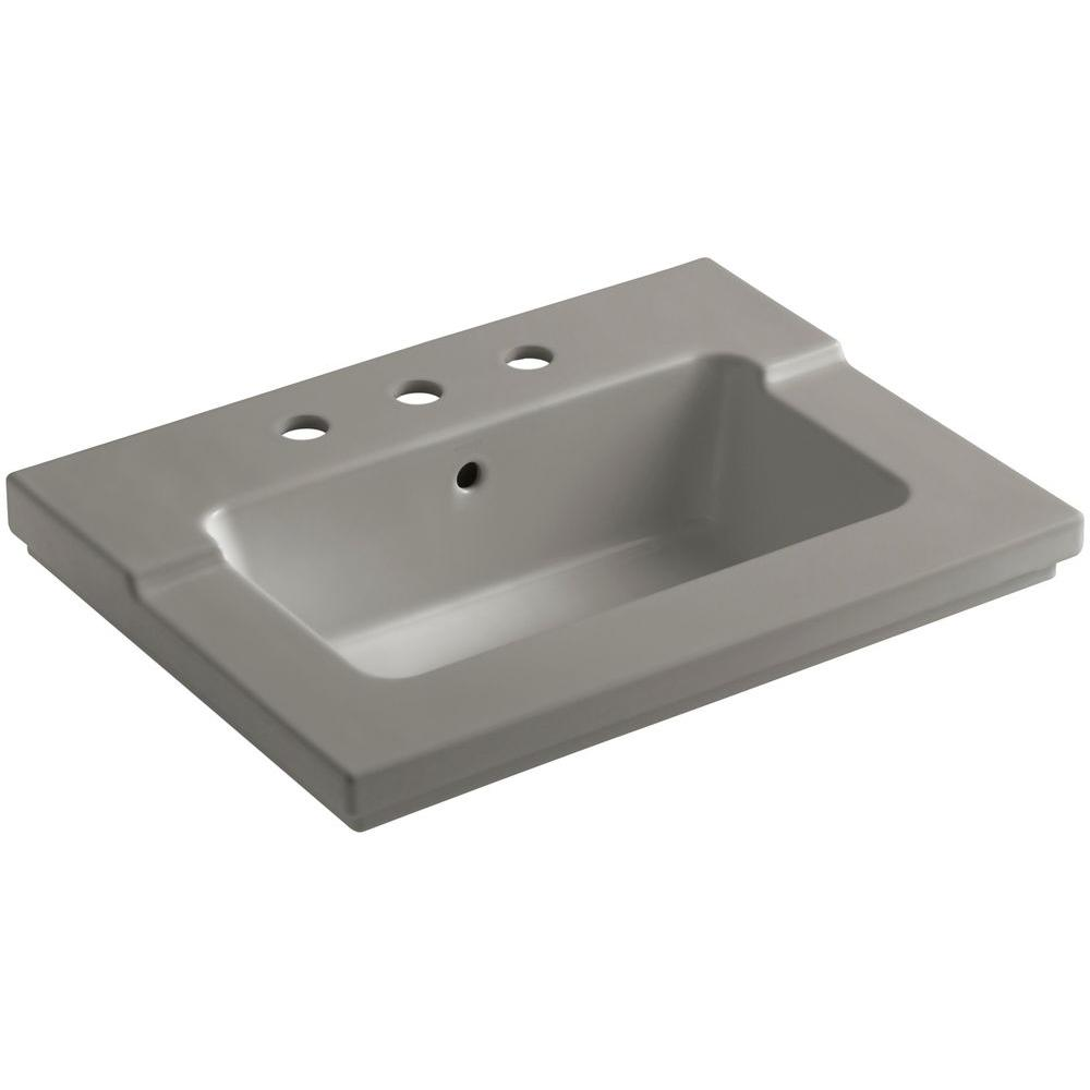 Tresham 25-7/16 in. Vitreous China Single Basin Vanity Top in Cashmere
