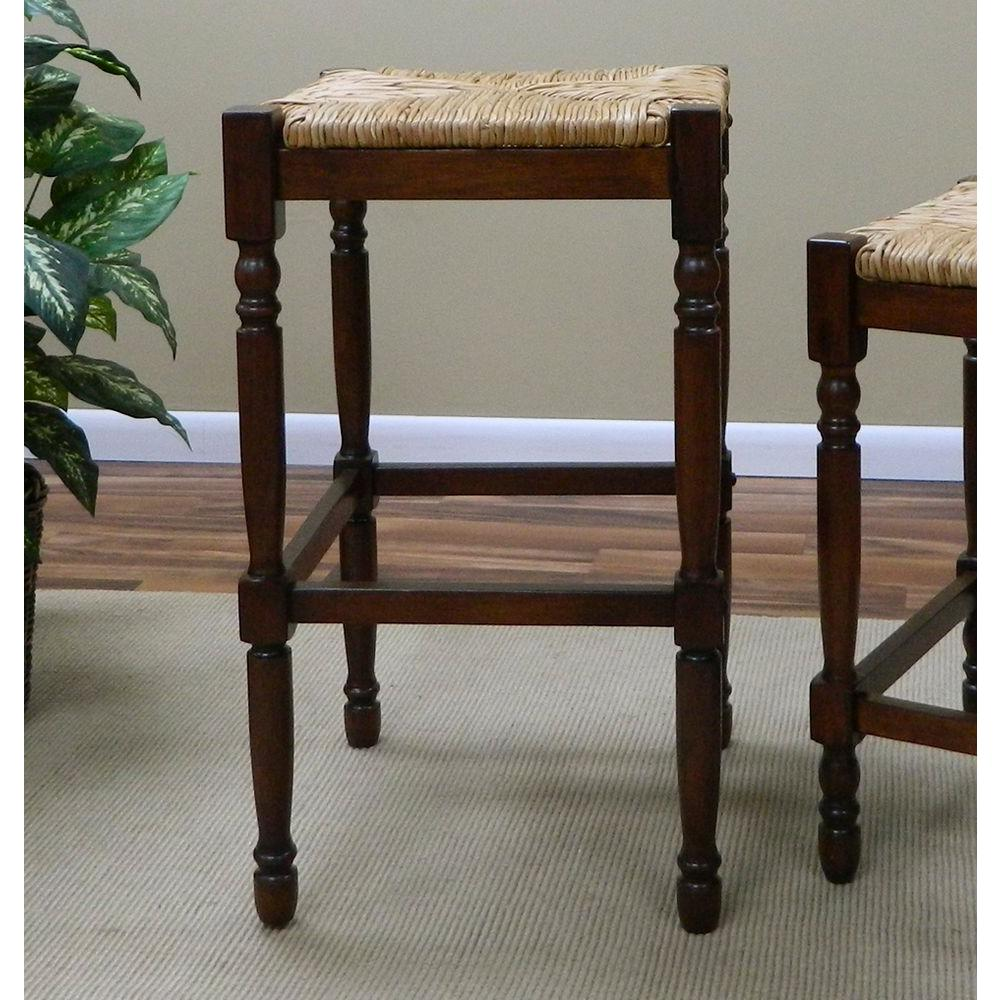 Carolina Cottage 30 in. Hawthorne Bar Stool in Chestnut-2663-RTA-NC - The