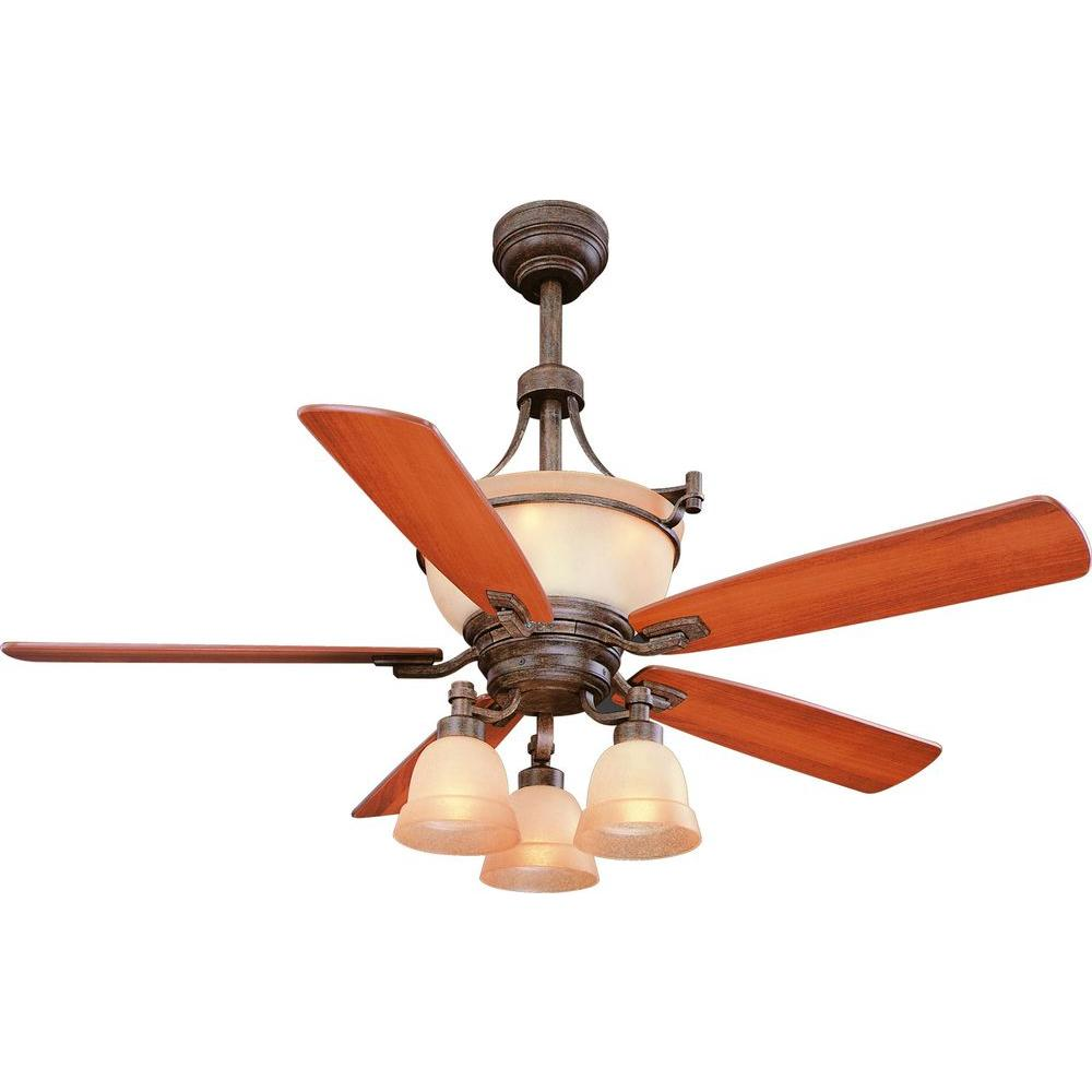 Rock Creek 52 in. Iron Oxide Ceiling Fan