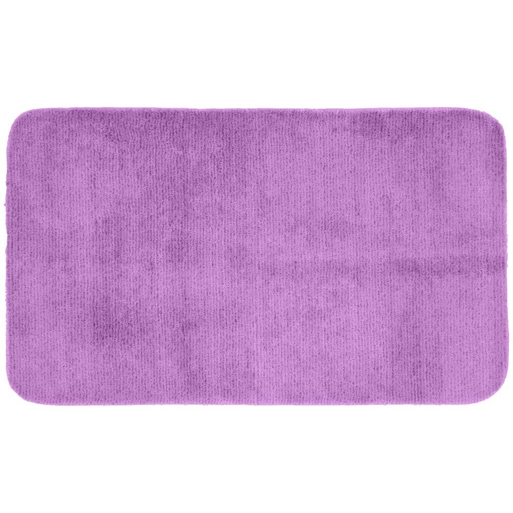 Garland Rug Glamor Purple 30 in. x 50 in. Washable Bathroom Accent Rug