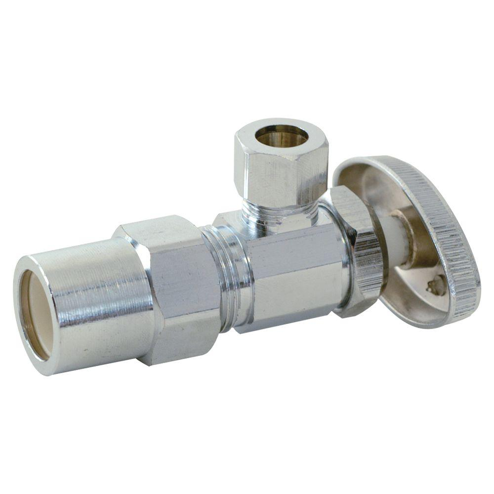 Eastman 1/2 in. CPVC x 3/8 in. Compression Angle Stop Valve-04345LF