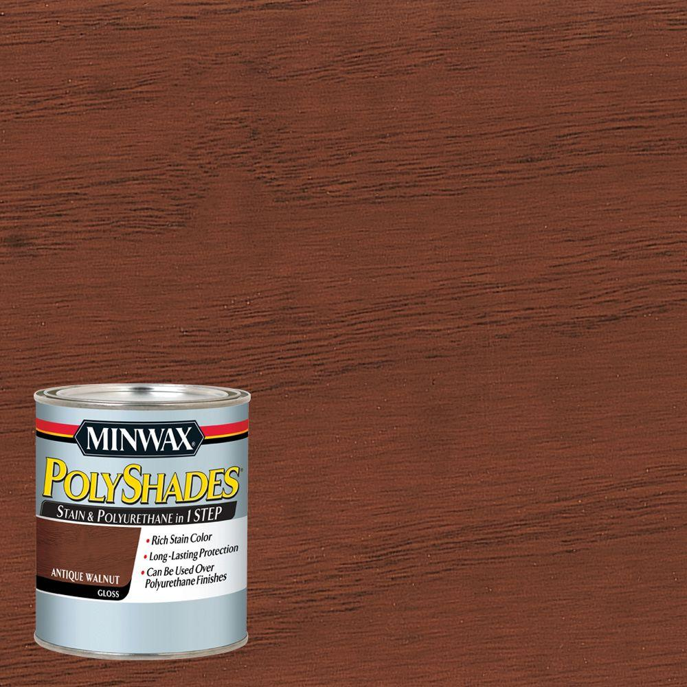1 qt. PolyShades Antique Walnut Gloss Stain and Polyurethane in 1-Step