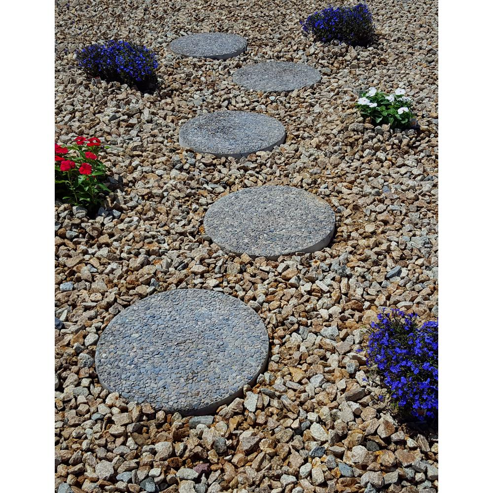Round Exposed Aggregate Pathway Stepstone (12 Pack)