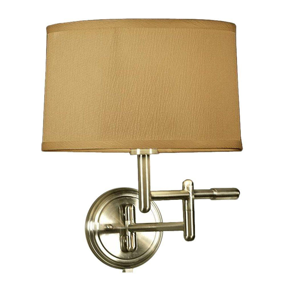Home Decorators Collection 1-Light Antique Brass Wall Pivoter Swing-Arm Lamp-DISCONTINUED ...