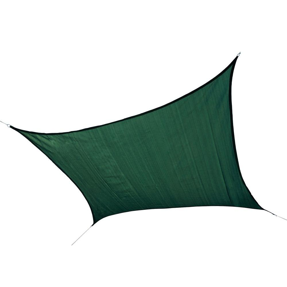12 ft. x 12 ft. Evergreen Square Heavy Weight Sun Shade