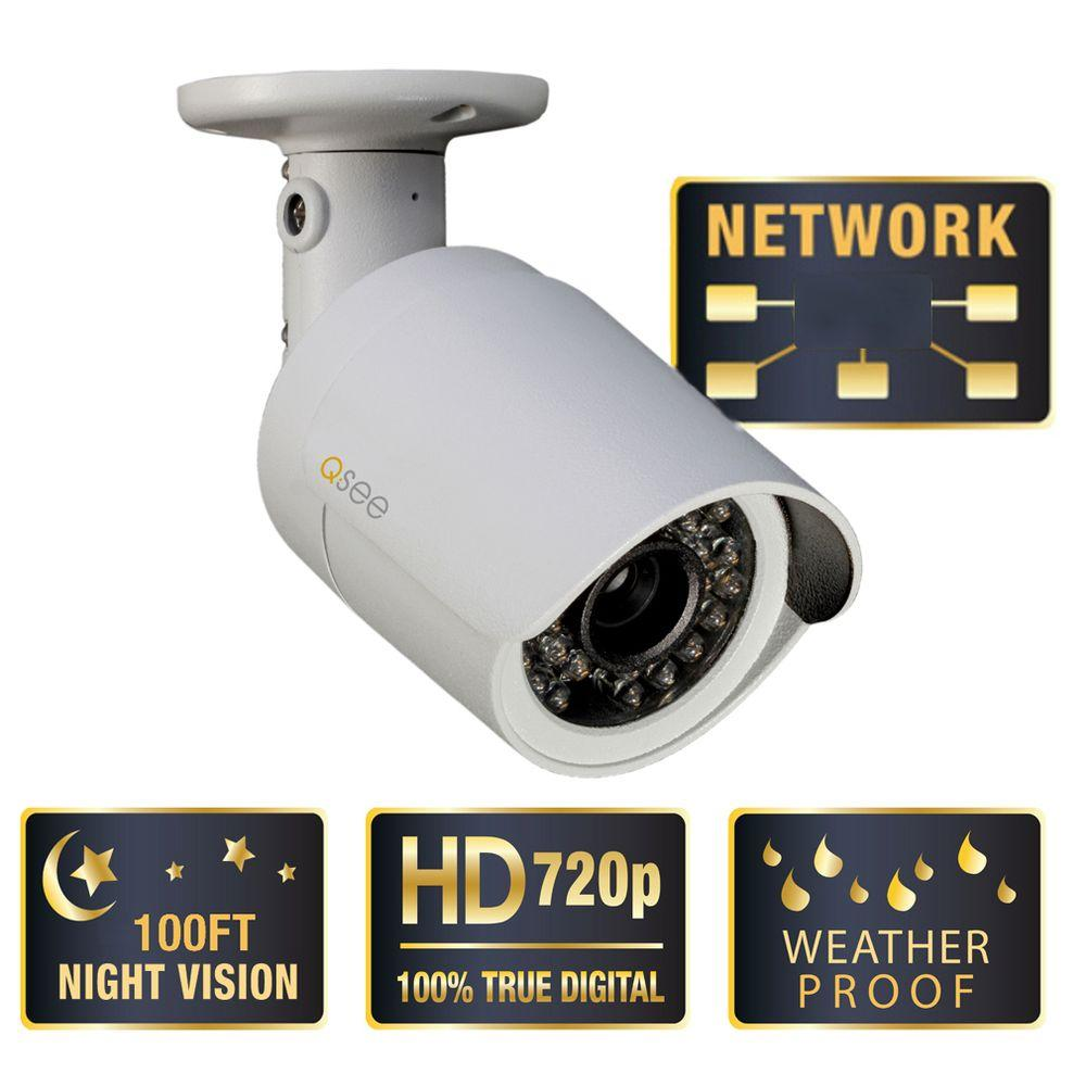 Q-SEE Platinum Series Wired 720p Resolution Indoor/Outdoor Weatherproof Bullet IP Camera-DISCONTINUED