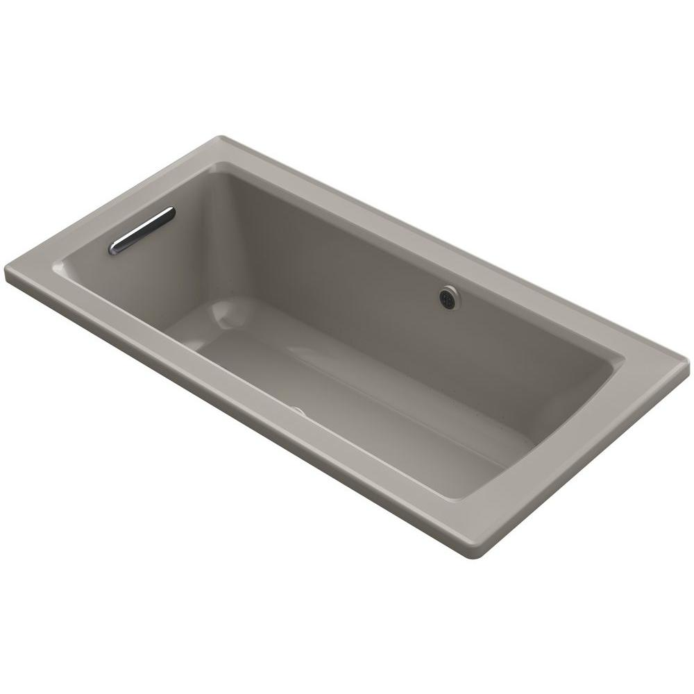 kohler archer 5 ft walk in whirlpool and air bath tub in cashmere k
