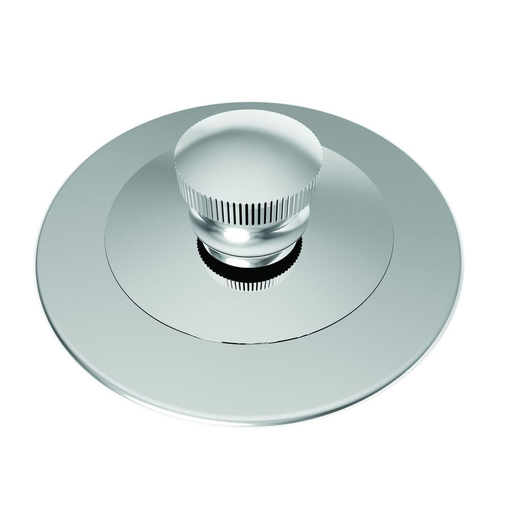 Brasstech 2-13/16 in. Lift and Turn Bath Plug in Polished Chrome