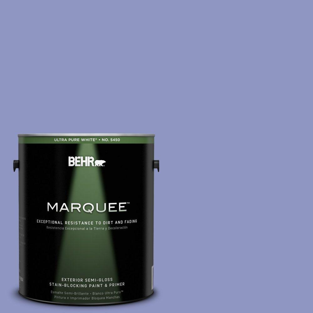 BEHR MARQUEE 1-gal. #610B-4 Intuitive Semi-Gloss Enamel Exterior Paint
