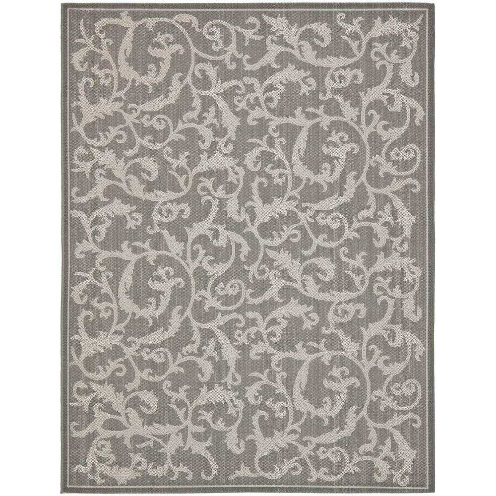Courtyard Anthracite/Light Gray 8 ft. x 11 ft. Indoor/Outdoor Area Rug