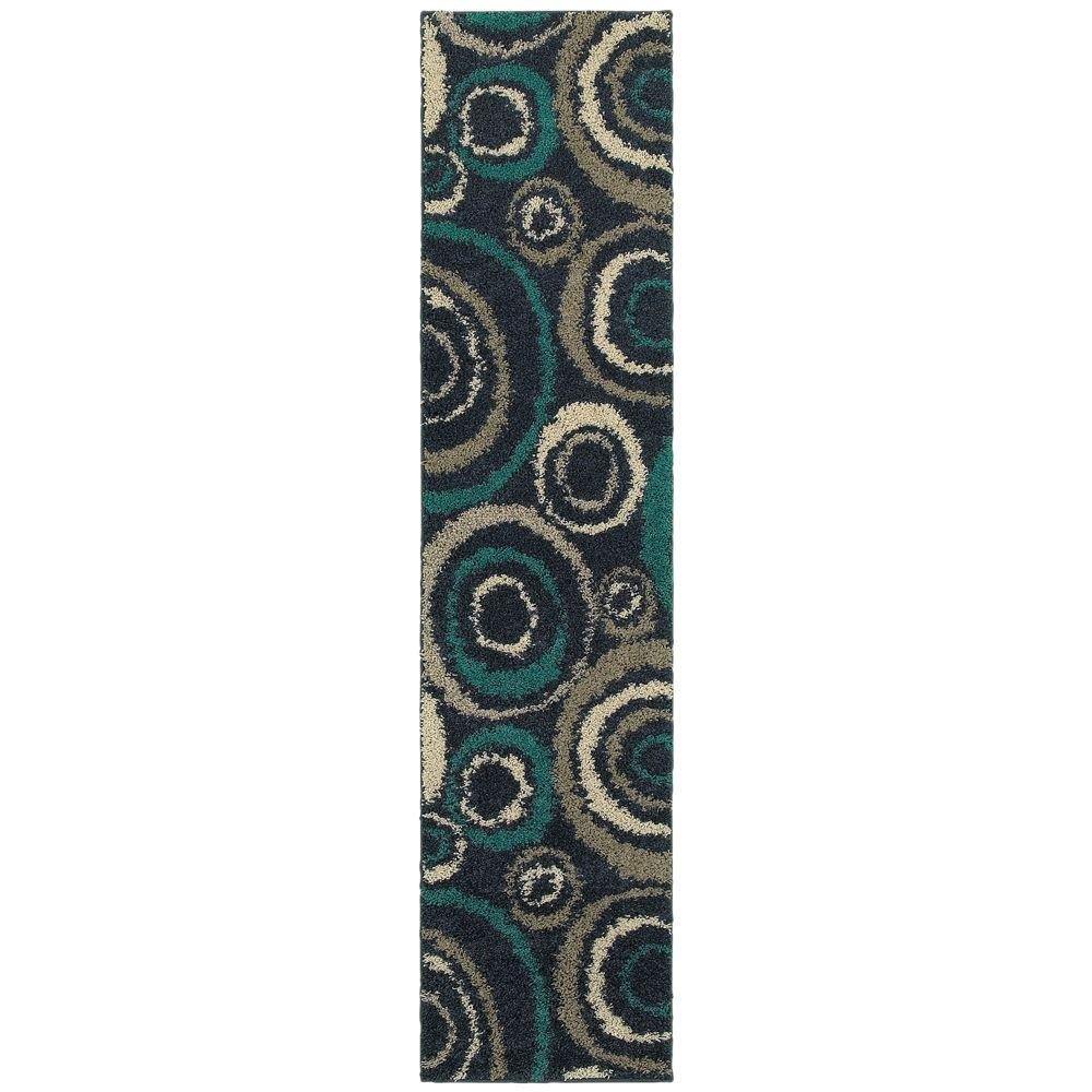 Home Decorators Collection Orbit Teal 1 ft. 10 in. x 7