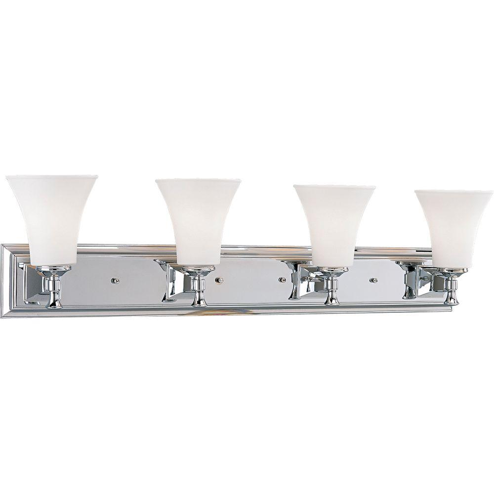 Fairfield Collection 4-Light Chrome Vanity Fixture