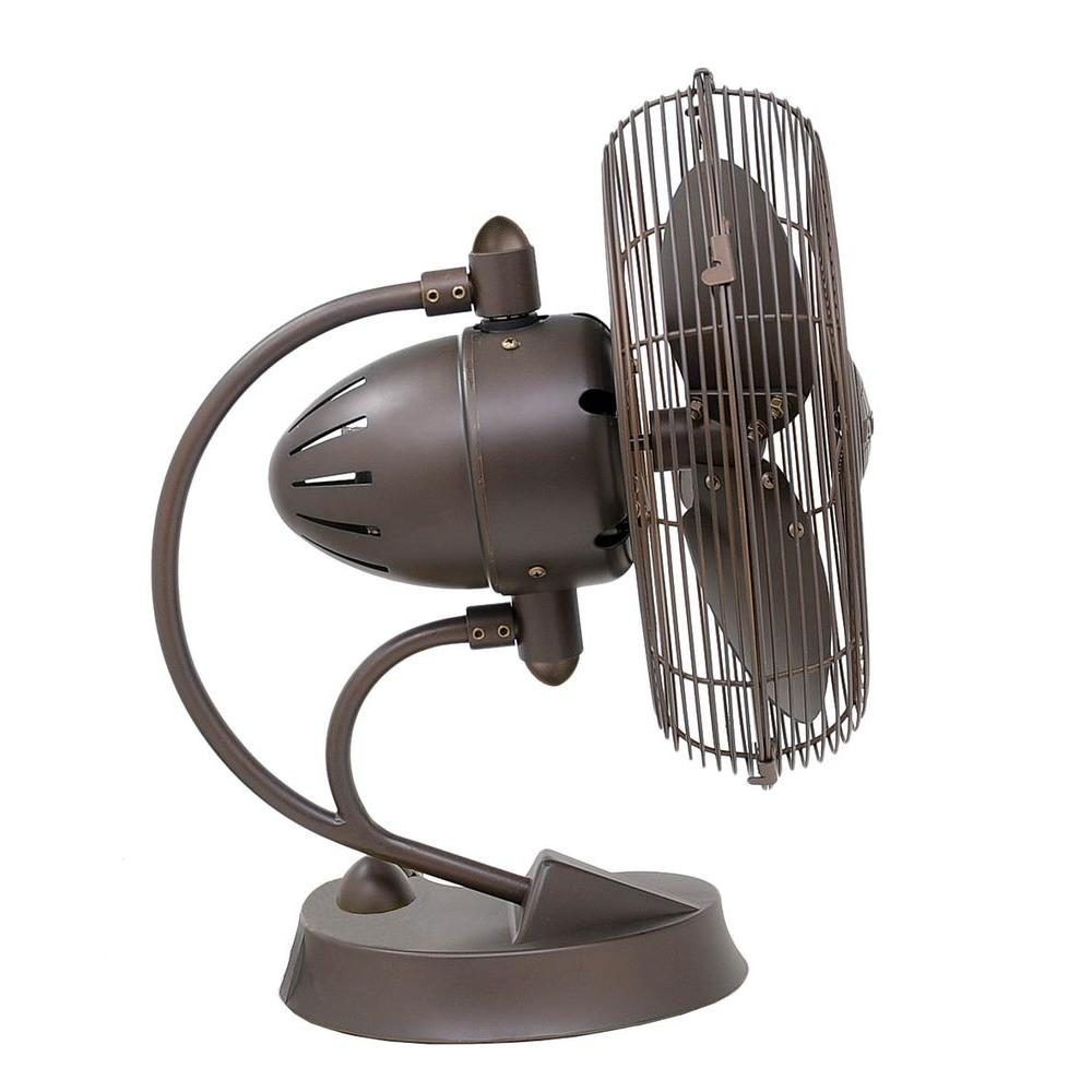 null Gale Series 14 in. Textured Bronze Indoor Table Fan