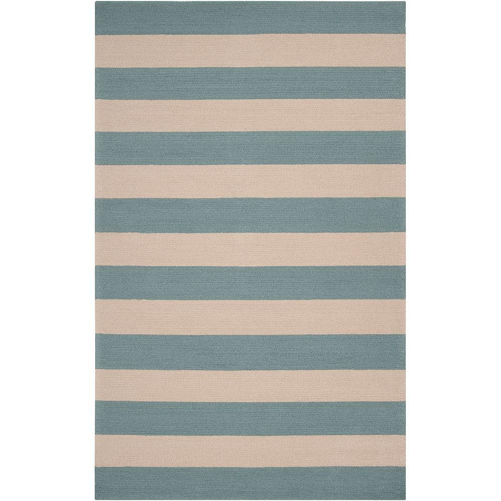 Camellia Stormy Sea 5 ft. x 8 ft. Area Rug