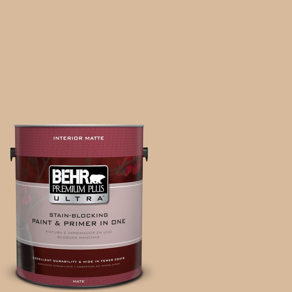 1 gal. #S260-3 Dusty Gold Matte Interior Paint