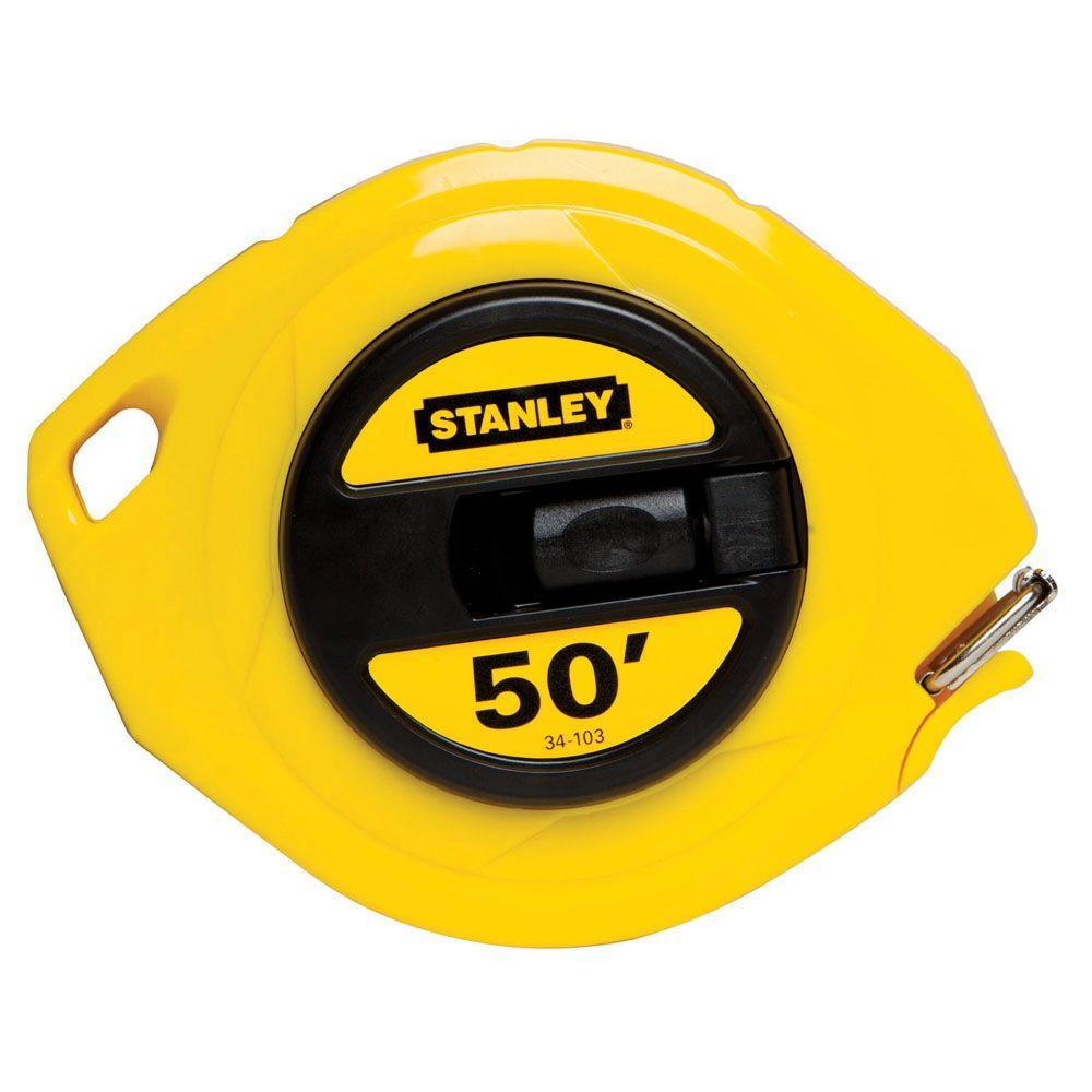 Stanley 50 ft. Steel Long Tape-34-103 - The Home Depot