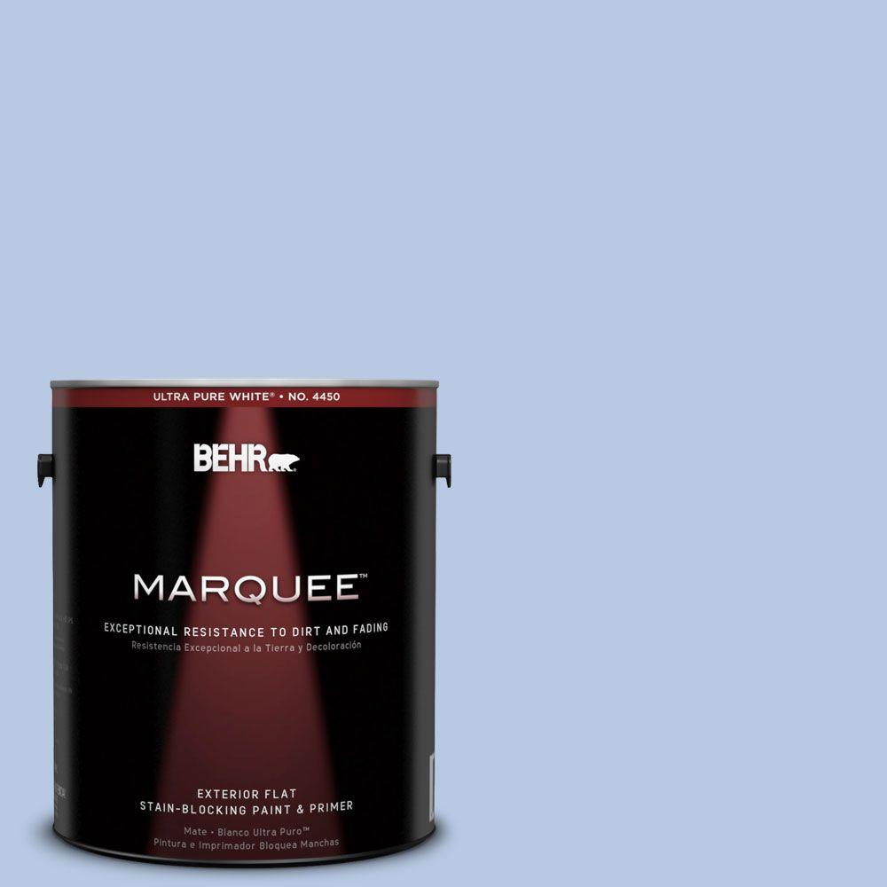 BEHR MARQUEE 1-gal. #590C-3 Mystic River Flat Exterior Paint-445401 - The