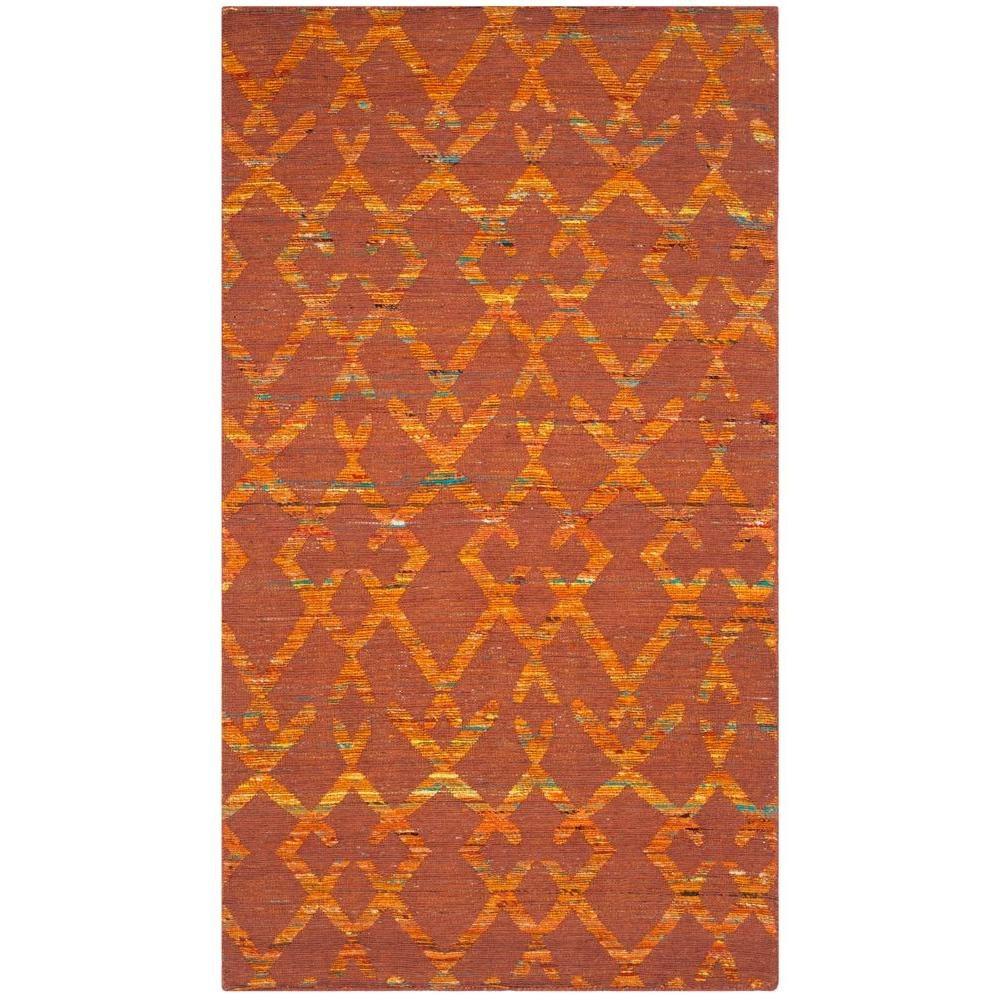 Straw Patch Rust/Gold (Red/Gold) 3 ft. x 5 ft. Area Rug