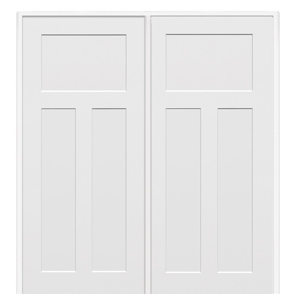62 in. x 81.75 in. Primed Craftsman Smooth Surface Solid Core