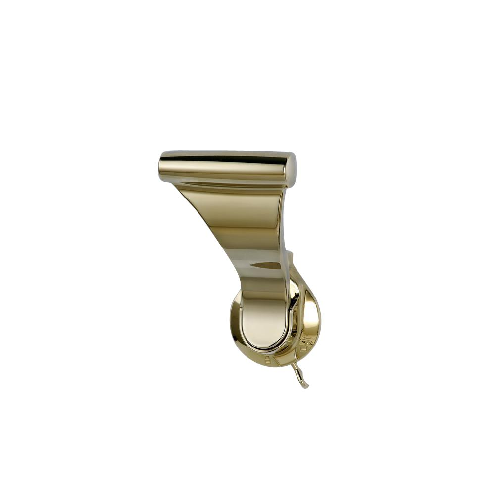 1-3/4 in. Bright Brass Push/Pull Privacy Latch with 2-3/8 in. Backset