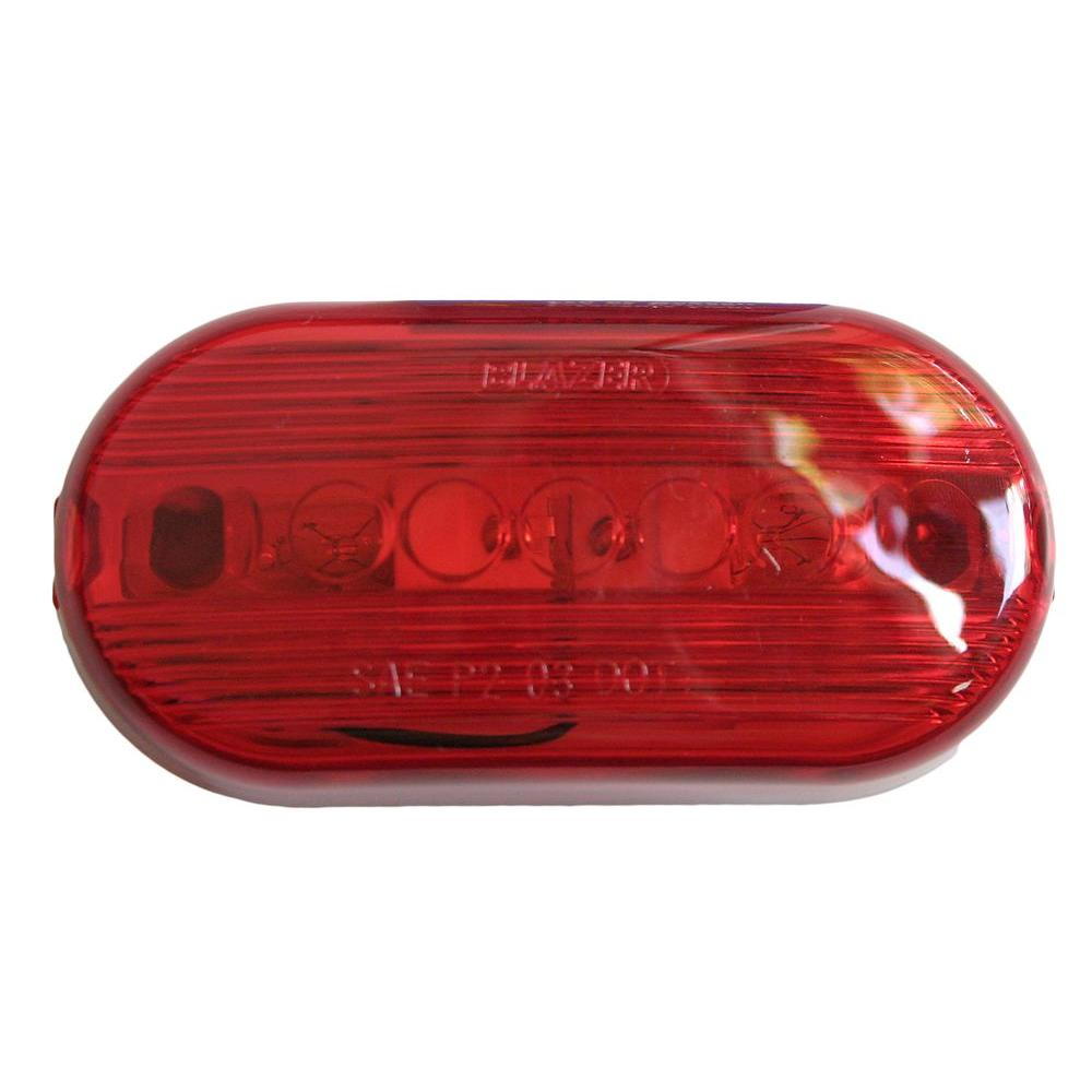 Blazer International Clearance 4-1/8 in. Dual Bulb Oblong Lamp Red-B482TW2R -