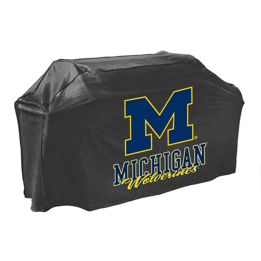 Mr. Bar-B-Q Michigan Wolverines Grill Cover-07722MICHGD - The Home Depot