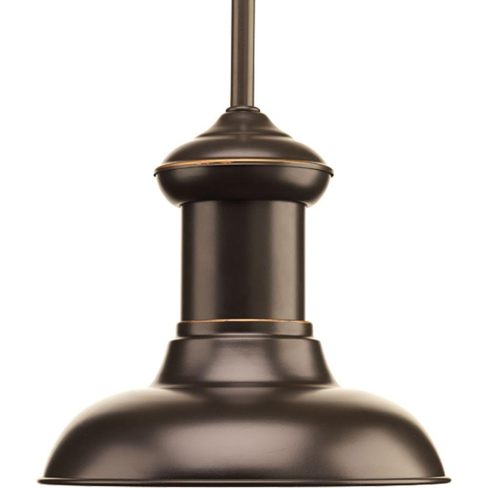 Progress Lighting Brookside Collection 1-Light Antique Bronze LED Mini