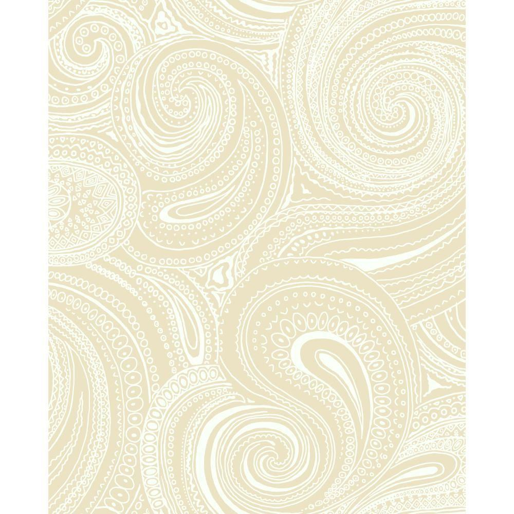 York Wallcoverings 56 sq. ft. Paisley Swirl Wallpaper-AP7472 - The Home