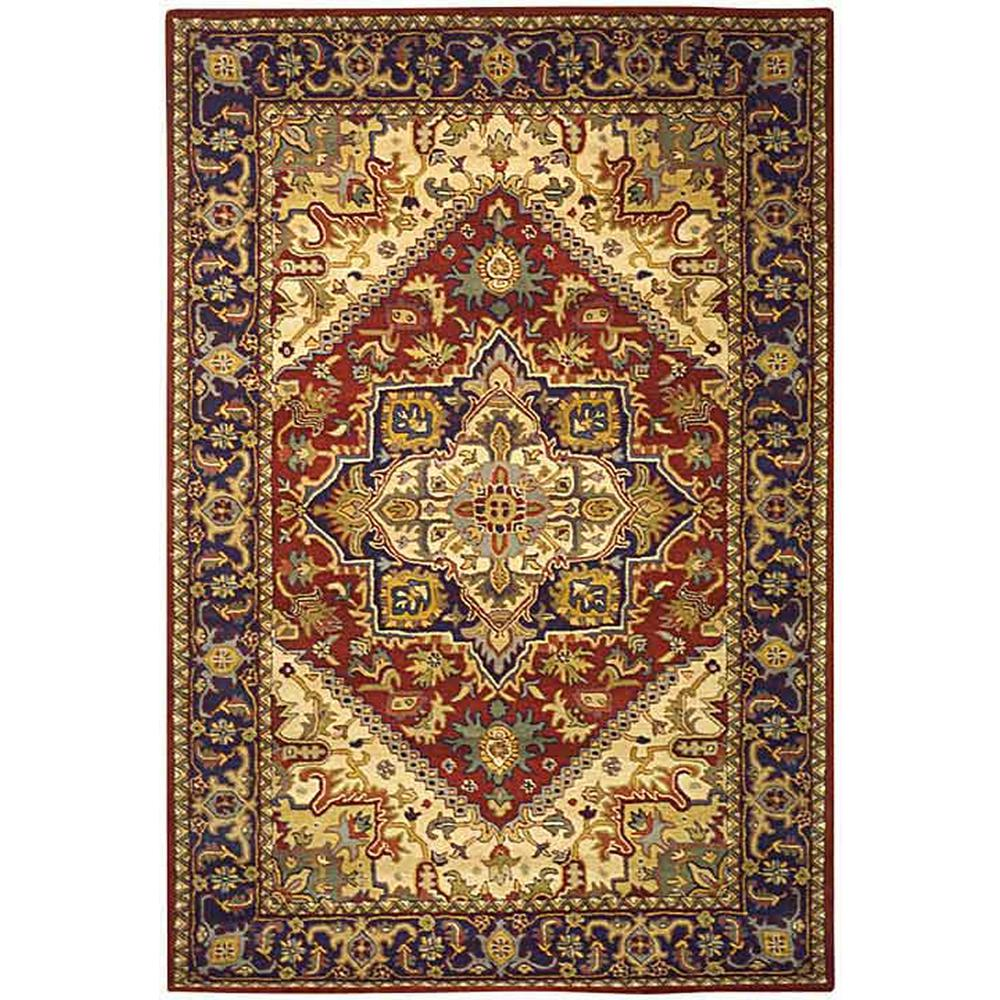 Heritage Red 8 ft. x 10 ft. Area Rug