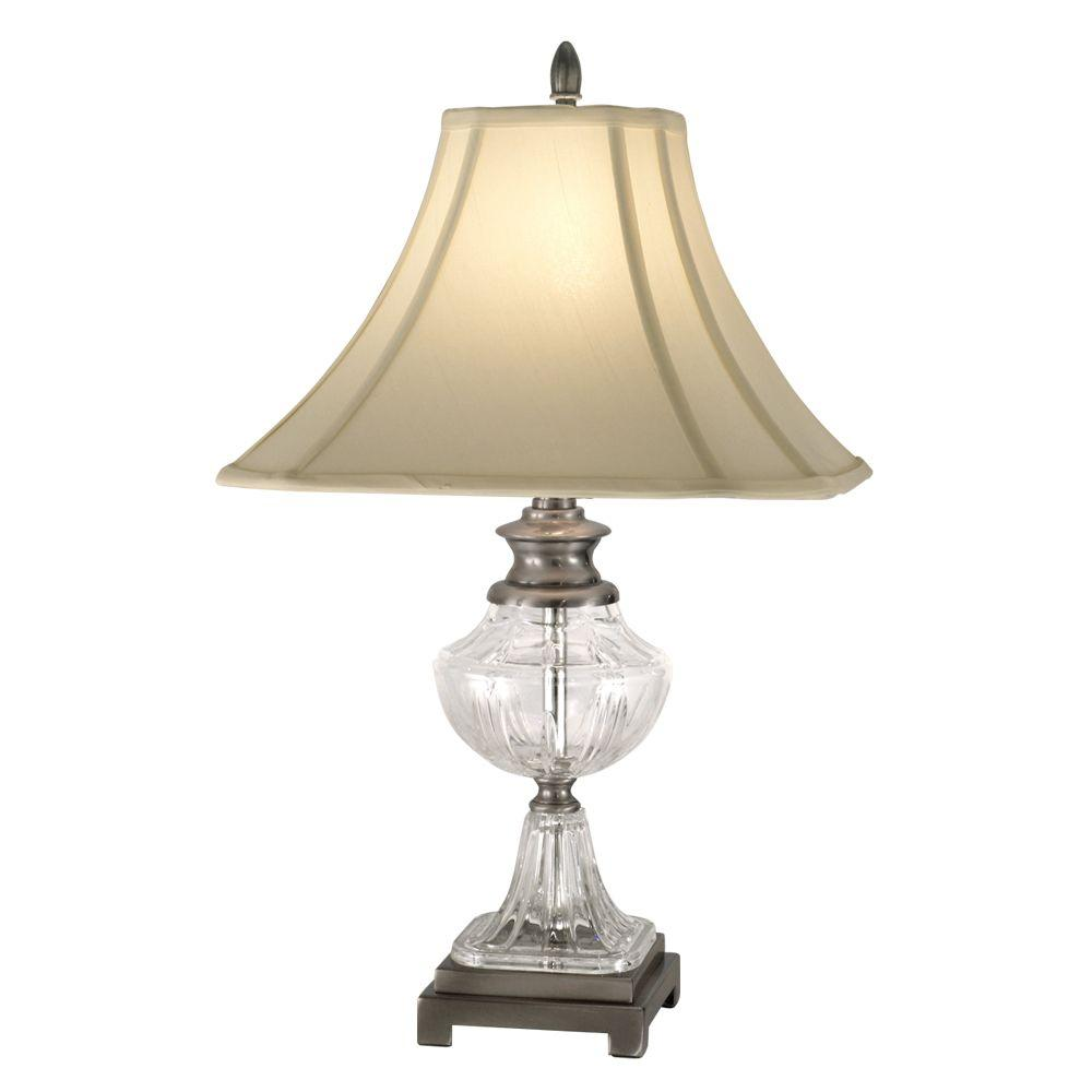 Dale Tiffany 24.5 in. Miles Antique Pewter Table Lamp