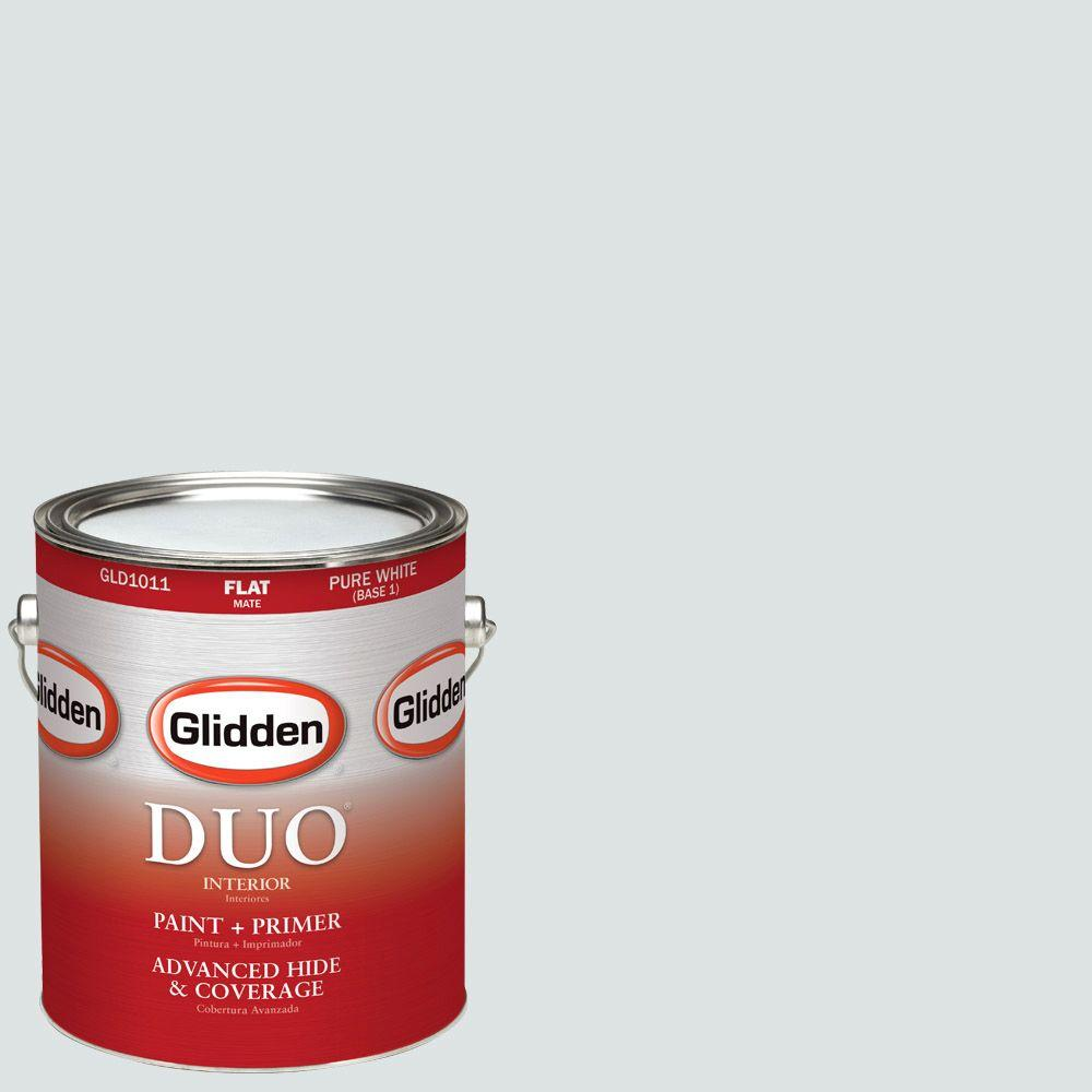 Glidden DUO 1-gal. #HDGCN30U Silver Streak Flat Latex Interior Paint with