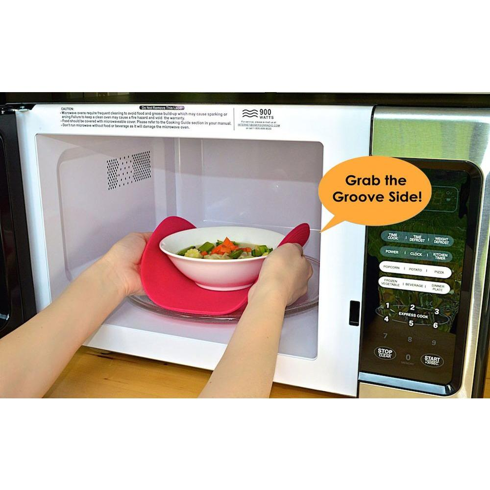 Micro Easy Grab 12 in. Microwaveable Silicone Mat in Lime-LIME12 -