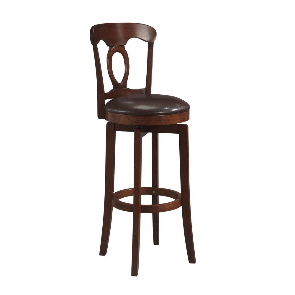 Corsica 25 in. Brown Swivel Cushioned Bar Stool