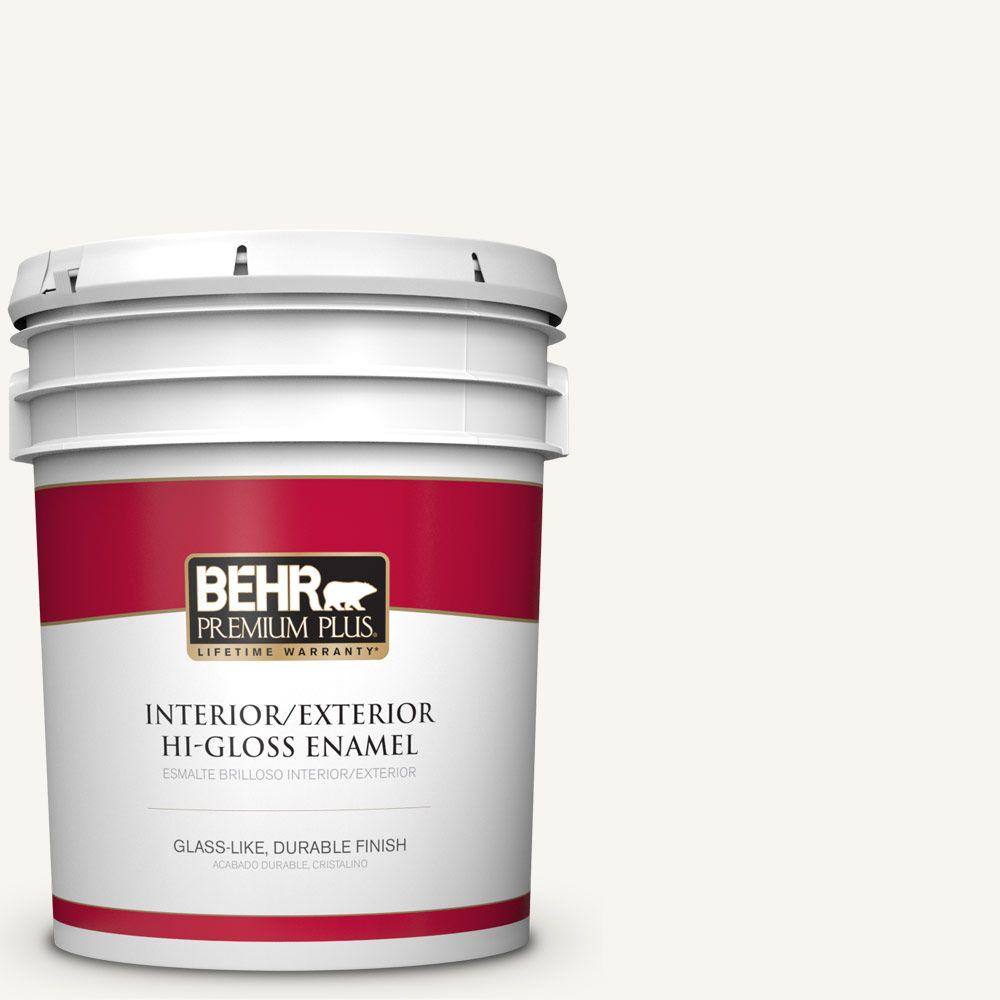 5 gal. #HDC-WR16-01 Snow Day Hi-Gloss Enamel Interior/Exterior Paint