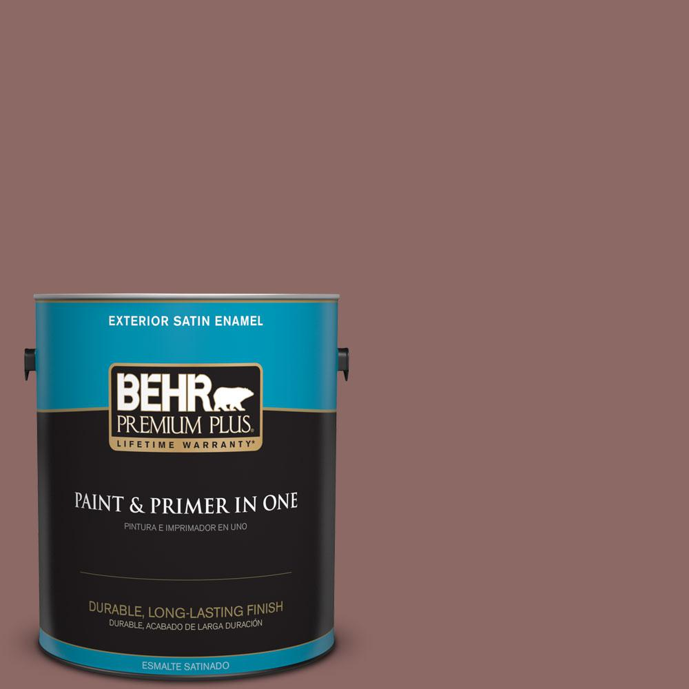 1-gal. #700B-5 Red Stone Satin Enamel Exterior Paint