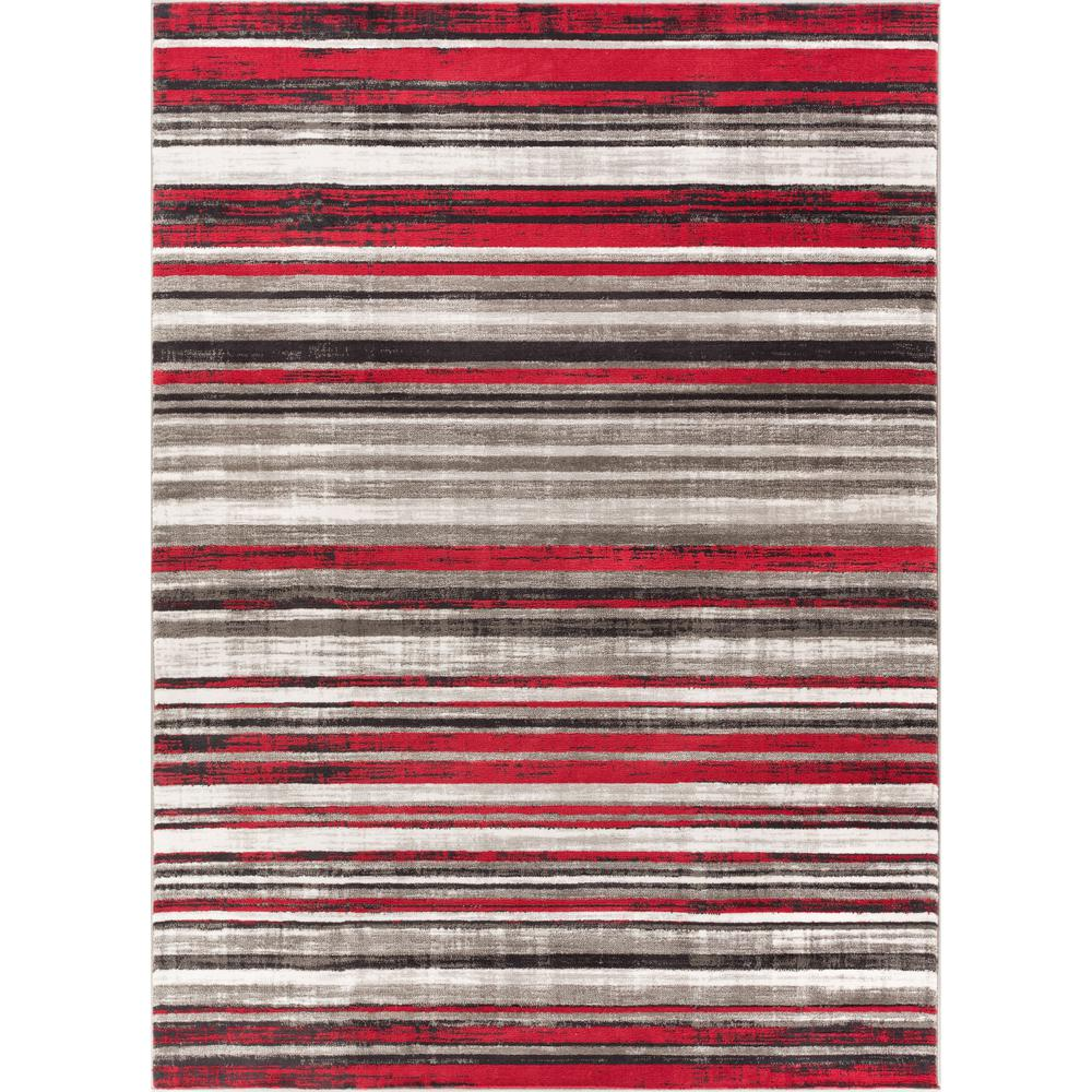 New Age Signature Stripes Red 5 ft. 3 in. x 7