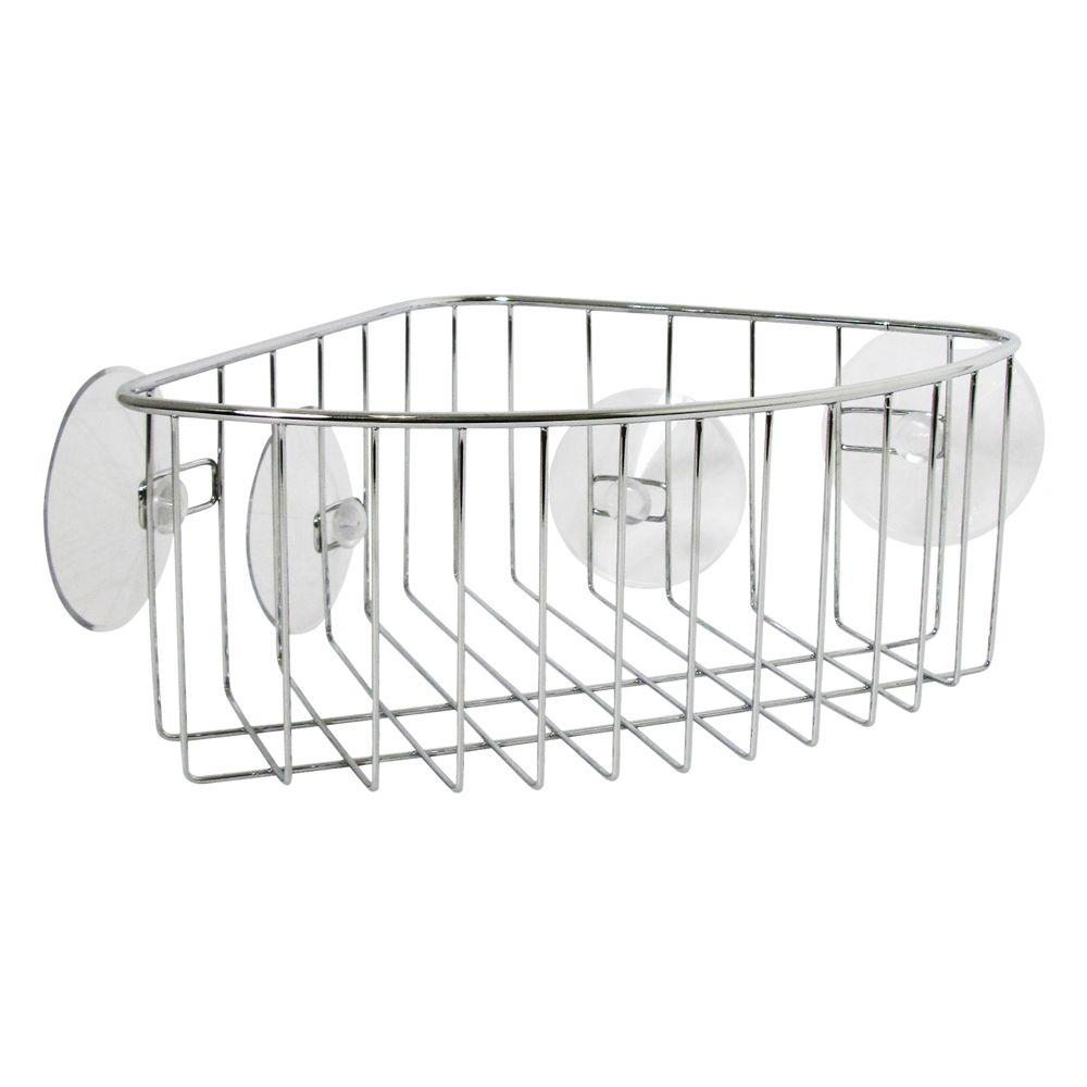 interDesign Rondo Stainless Steel Corner Basket