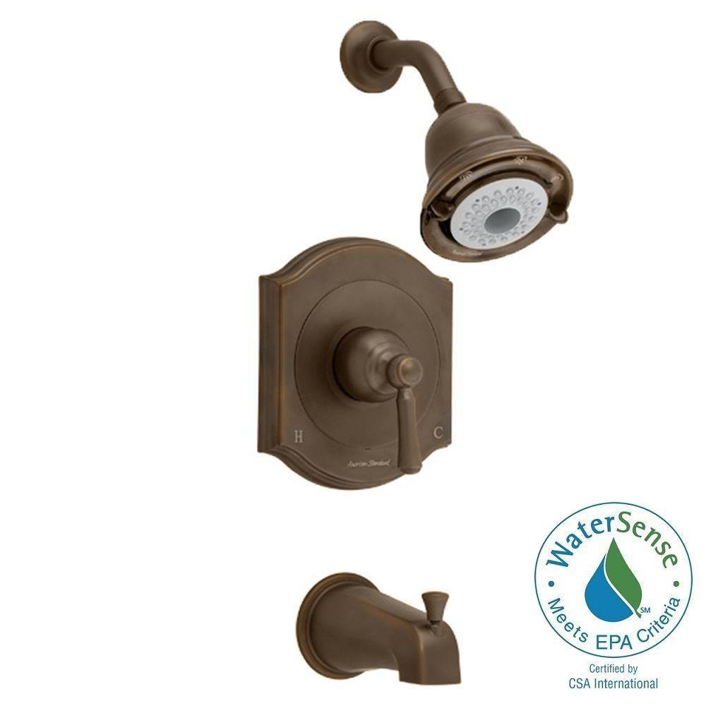 American Standard Portsmouth 1-Handle Tub and Shower Faucet Trim Kit in Oil Rubbed Bronze (Valve Sold Separately)