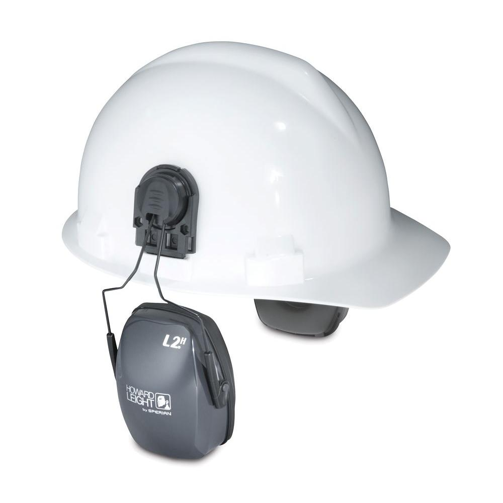Howard Leight Leightning L2H Noise Blocking Cap-Mounted Earmuffs with 13910039 Cap-Mount Adapter