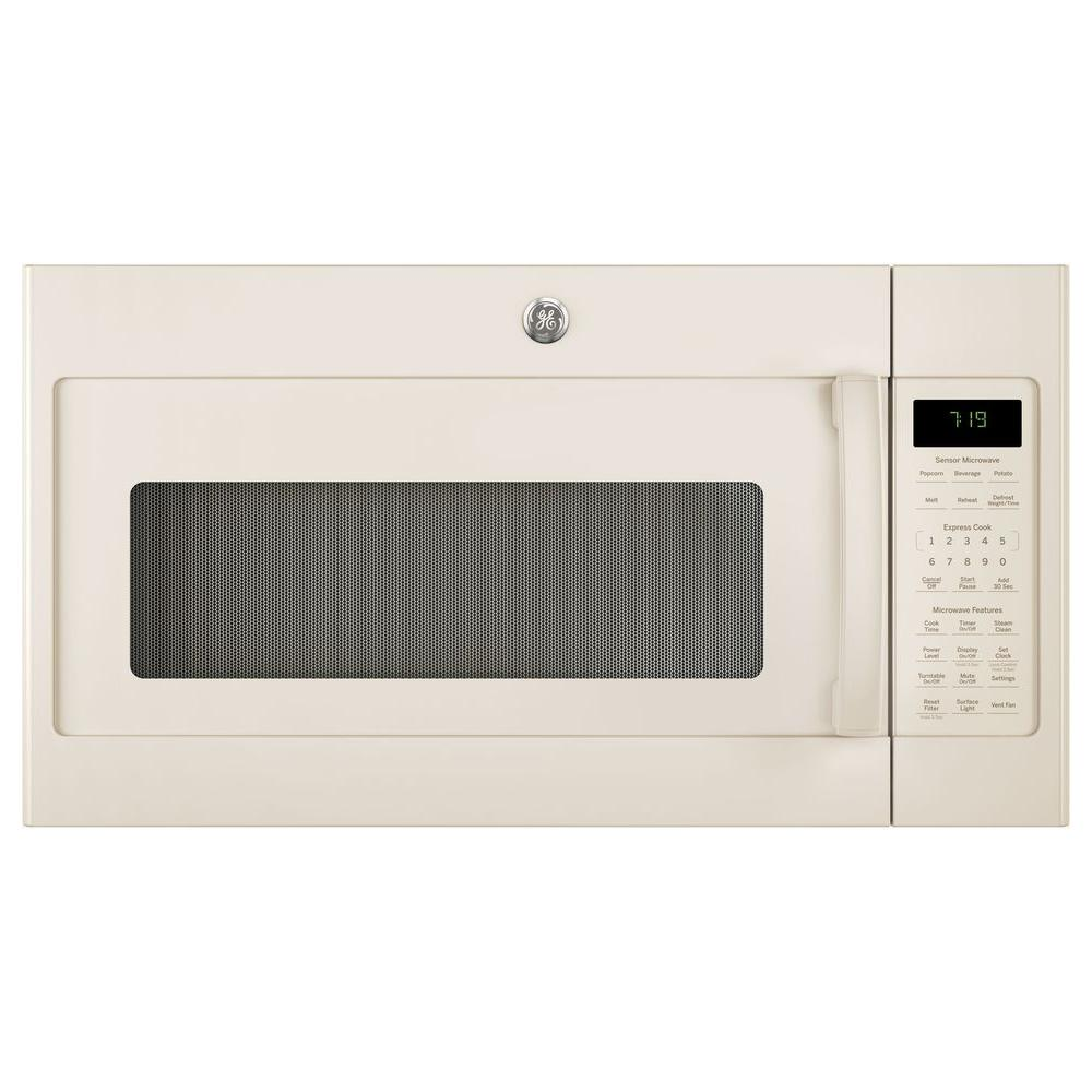 1.9 cu. ft. Over the Range Sensor Microwave Oven in Bisque